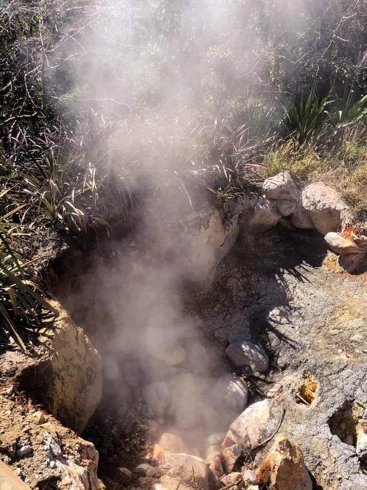 boiling water in a fumarole