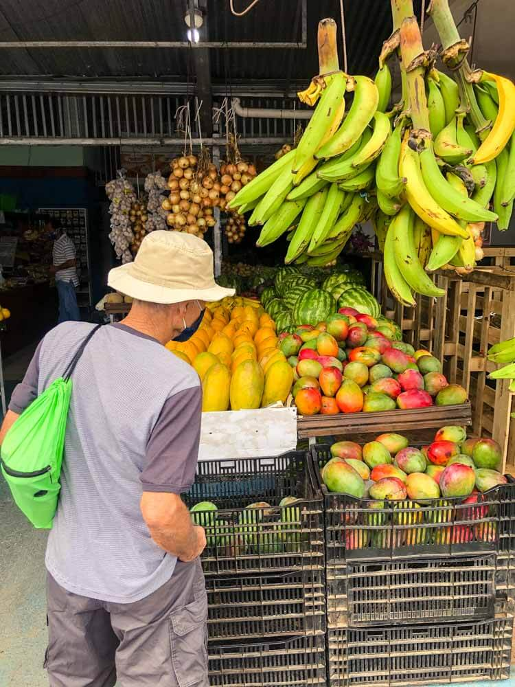 fruit store in La Fortuna, Costa Rica