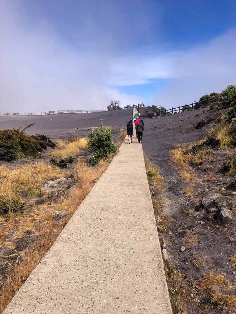 walking on a lava field