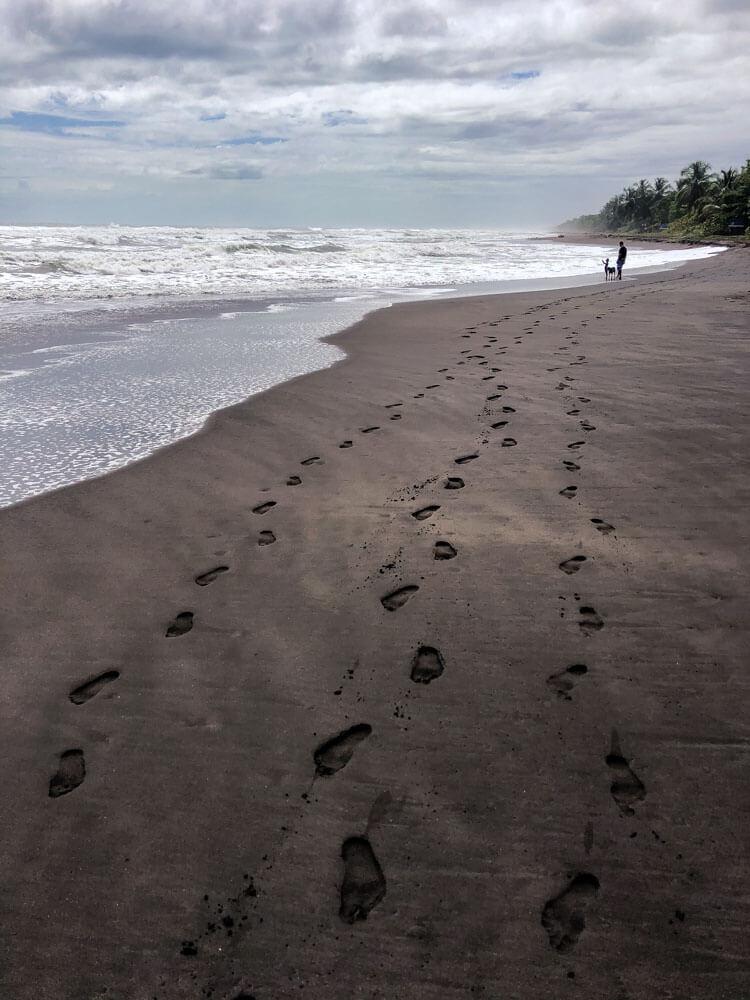 volcanic beach in Costa Rica