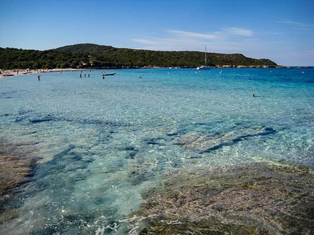 View of Lotu Beach in Corsica France