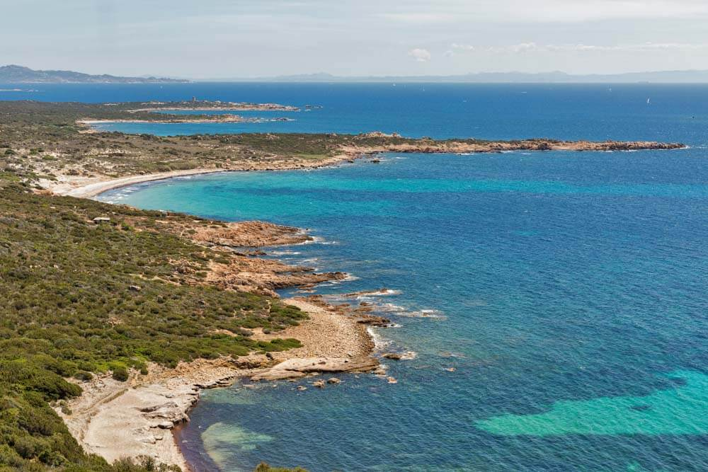 Beautiful beaches of Corsica with white sand: Roccapina Beach