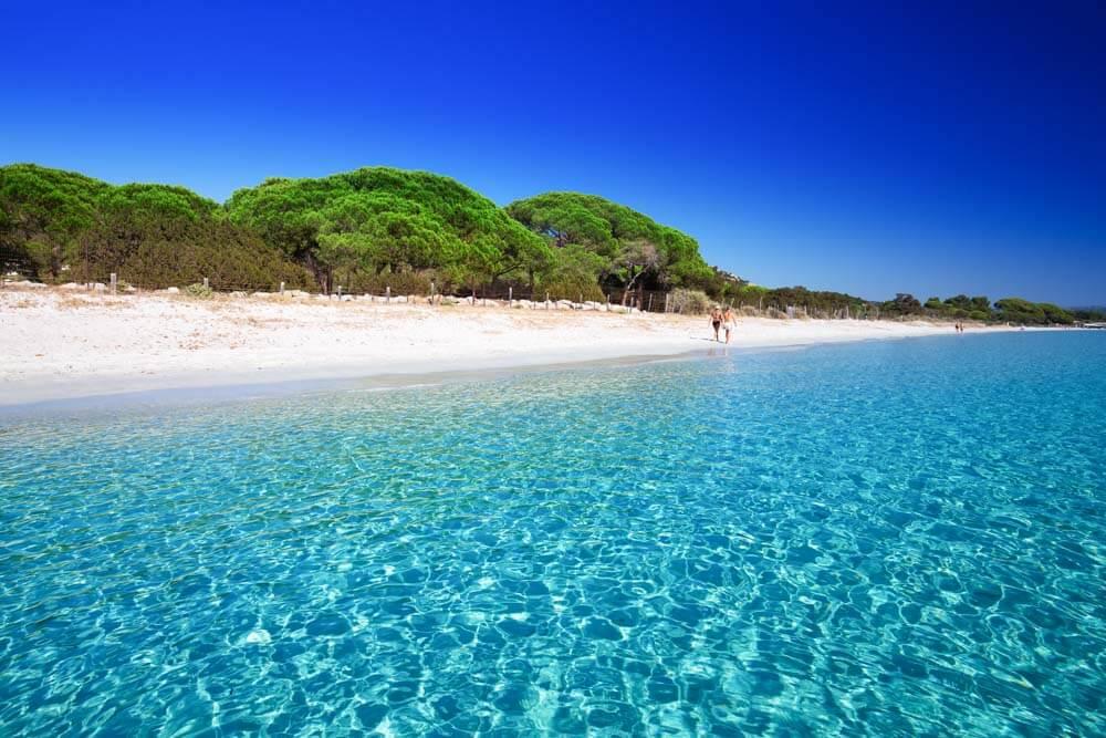 White sand beaches in Corsica: La Palombaggia
