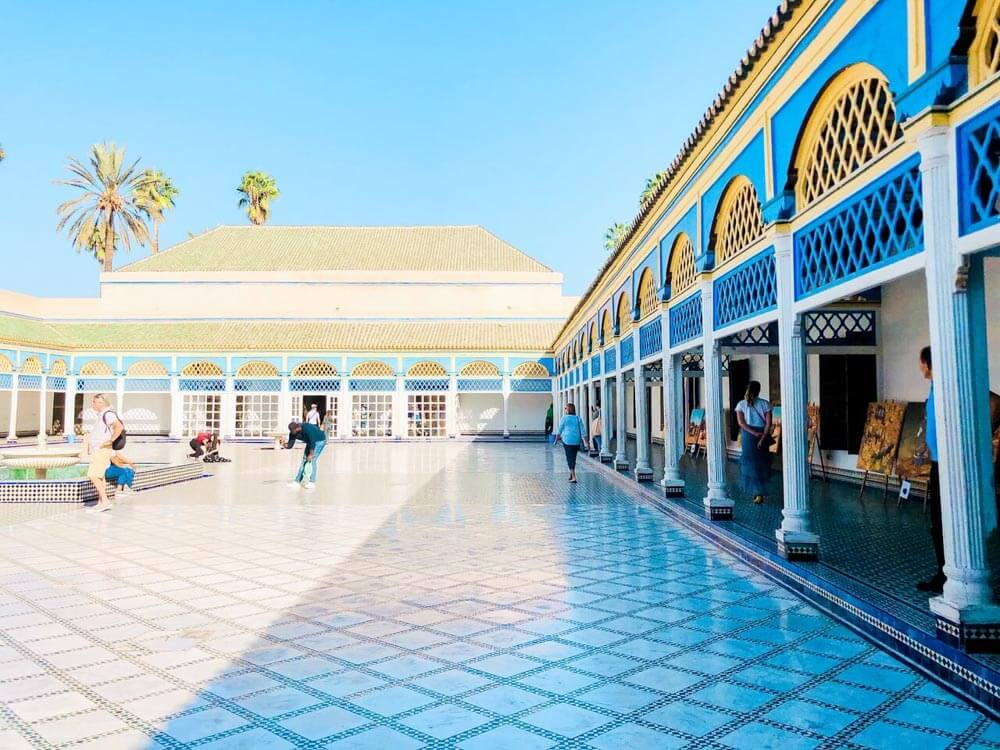 View of a courtyard of a Marrakech palace