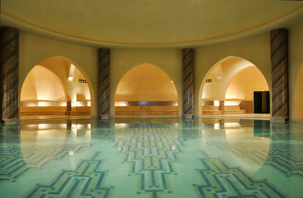 view of a hammam in Morocco