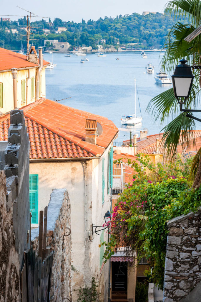 A maze of old European streets opening onto the sea