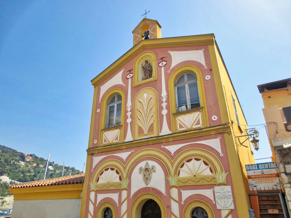 A chapel with a uniquely ornate facade - in Villefranche-sur-Mer