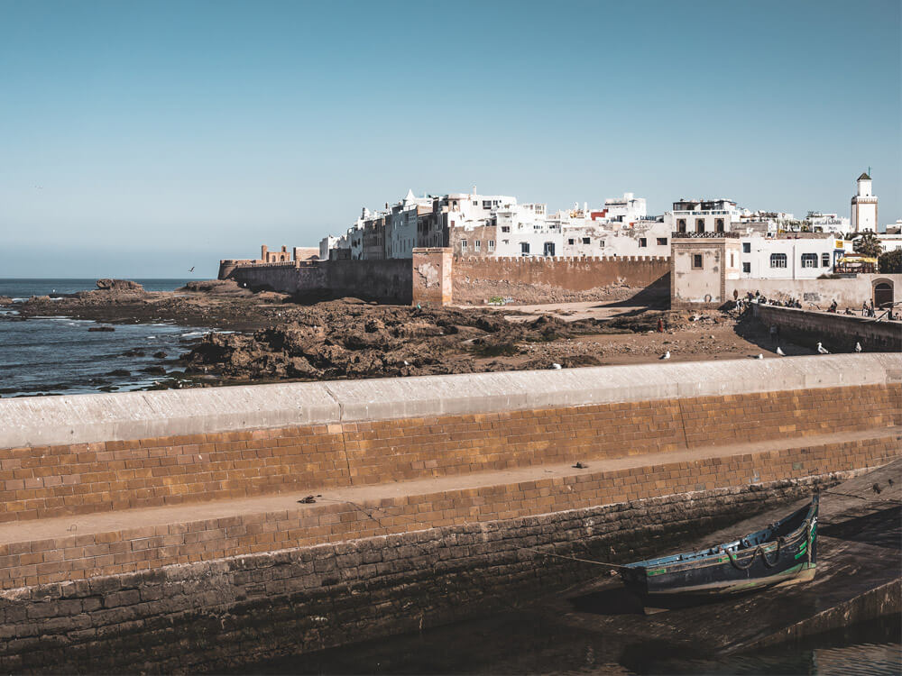 View of a seaside town in Morocco: Essaouira